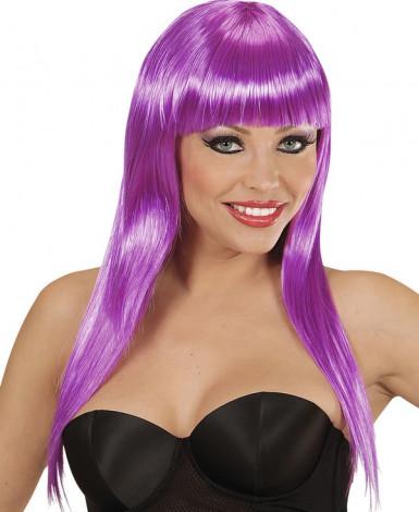Peruca glamour violeta mulher