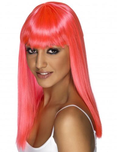Peruca glamour cor-de-rosa mulher