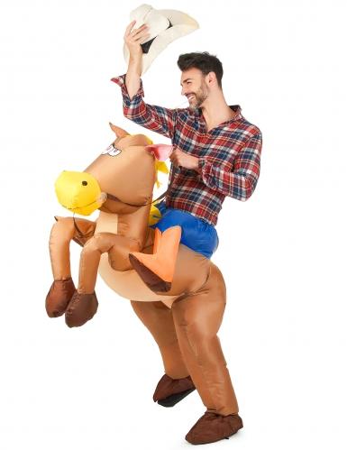 Disfarce de cavalo insuflável adulto-1