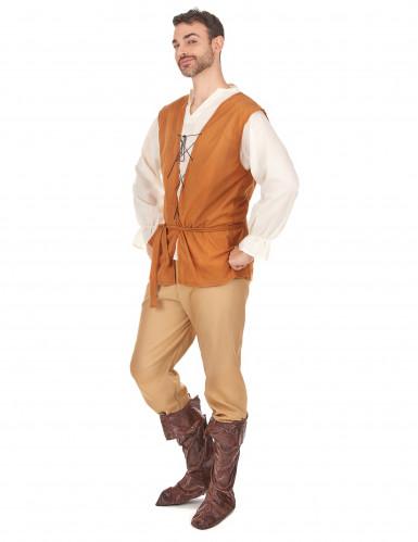 Disfarce camponês medieval homem-1