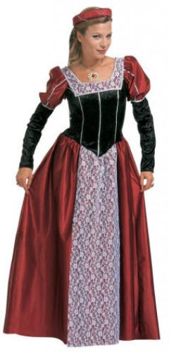Fantasia de princesa medieval para mulher