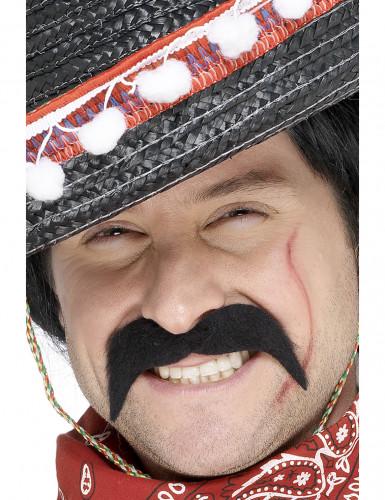 Bigode de bandido mexicano para adulto