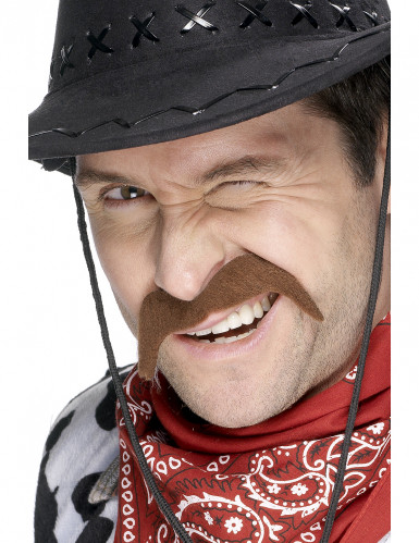 Bigode cowboy para adulto