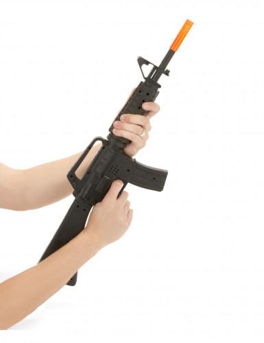 Espindarda de assalto de soldado M16 de plástico-1