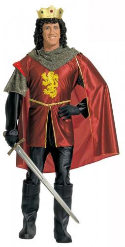Disfarce rei medieval vermelho homem