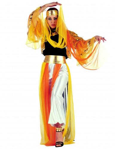 Disfarce de dançarina oriental mulher