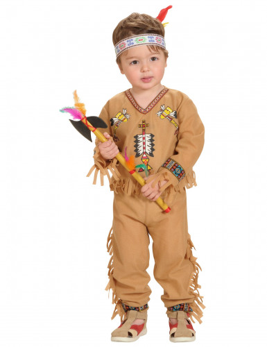 Disfarce de índio menino com franjas