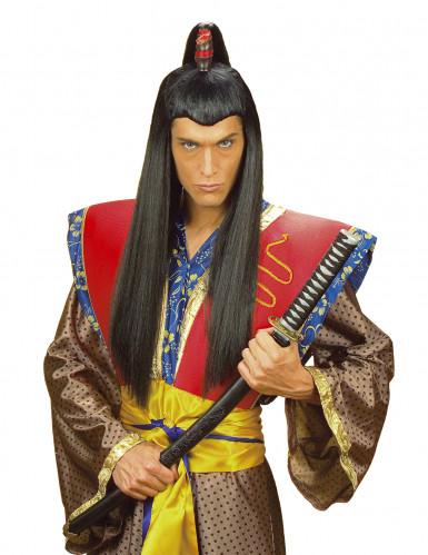 Peruca samurai para homem
