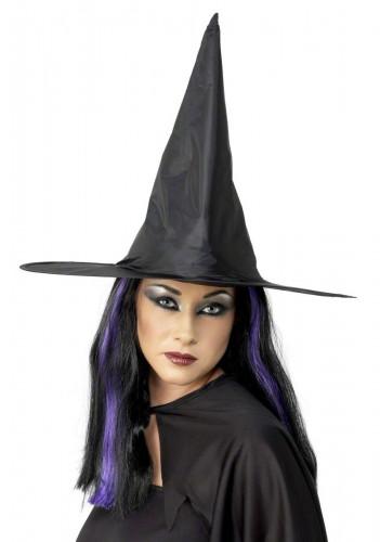 Chapéu de bruxa preto mulher Halloween