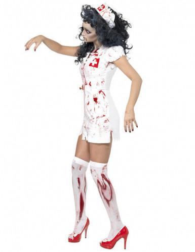 Disfarce de enfermeira zombie para mulher Halloween-1