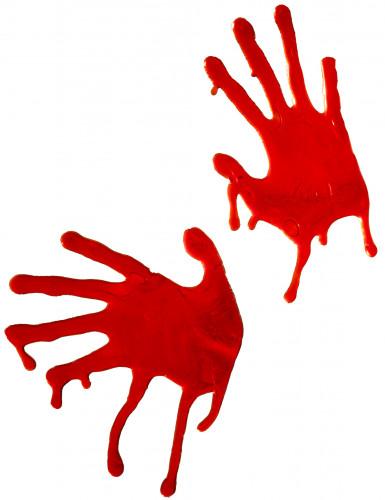 Mãos de sangue decoração para o Halloween