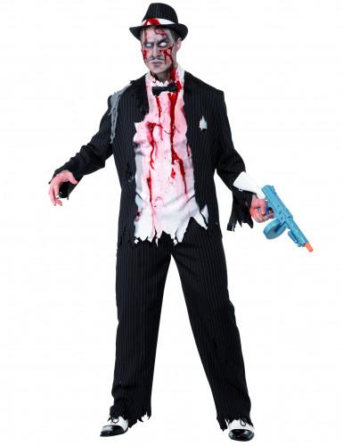 Disfarce de gangster charleston zombie para homem Halloween