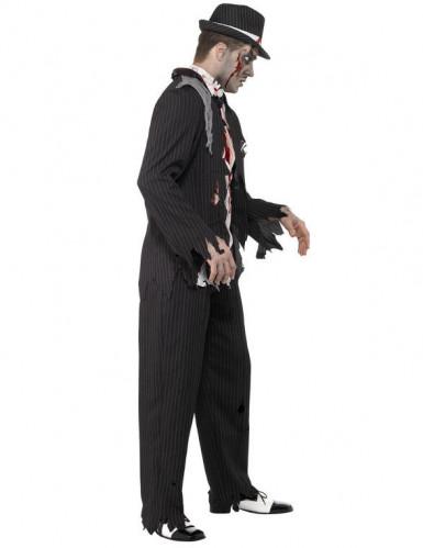 Disfarce de gangster charleston zombie para homem Halloween-1