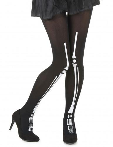 Collants esqueleto mulher Halloween