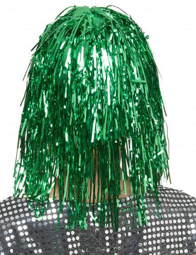 Peruca metálica verde mulher-1
