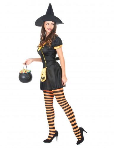 Disfarce bruxa abóbora mulher Halloween-1