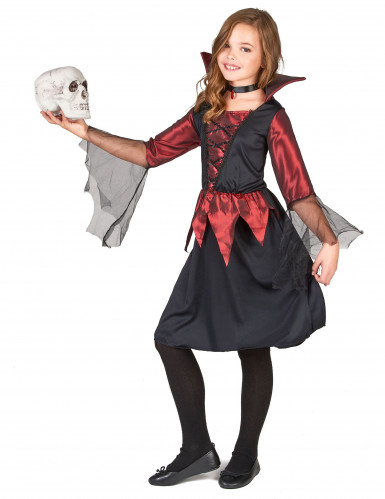 Disfarce vampiro menina para Halloween-1