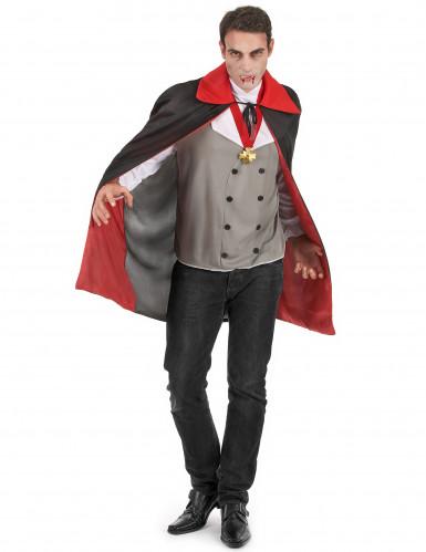 Disfarce vampiro cinzento homem Halloween