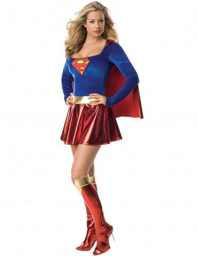 Disfarce sexy de luxo Supergirl™ para mulher