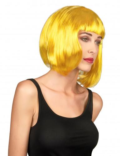 Peruca amarela mulher