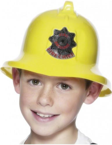Capacete de bombeiro amarelo