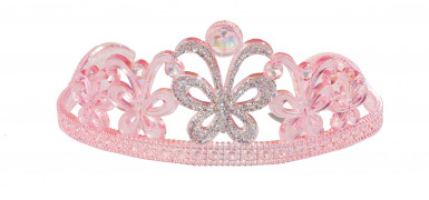 Tiara de princesa cor-de-rosa