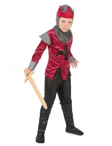 Disfarce de cavaleiro medieval rapaz