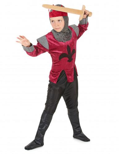 Disfarce de cavaleiro medieval rapaz-1