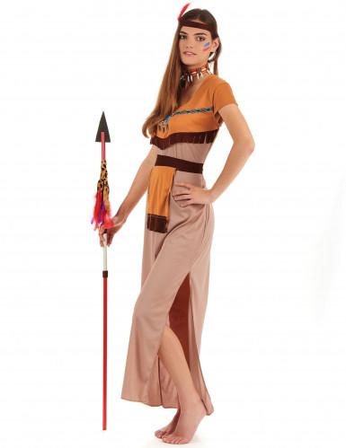 Disfarce índia mulher vestido comprido-1