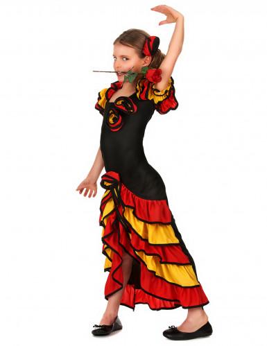 Disfarce dançarina espanhola menina-1