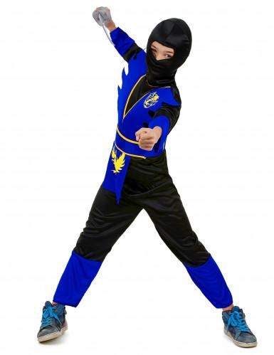 Disfarce ninja azul para rapaz-1