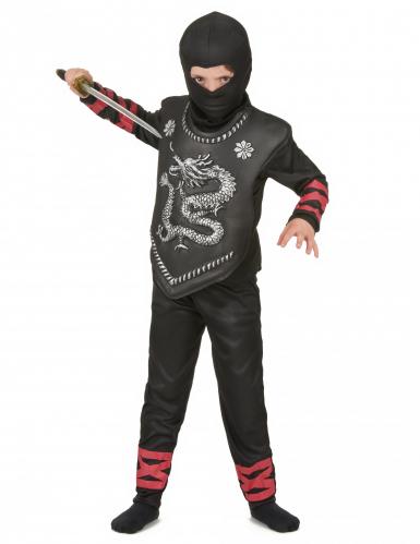 Disfarce de ninja dragão menino