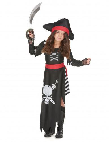 Disfarce de pirata capitã menina