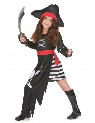 Disfarce de pirata capitã menina-1
