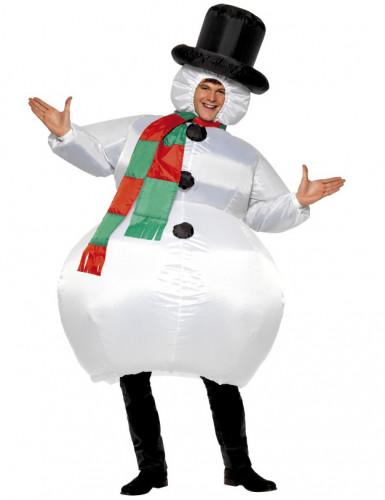 Disfarce Boneco de Neve inflável adulto