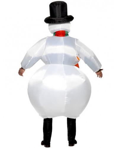 Disfarce Boneco de Neve inflável adulto-1