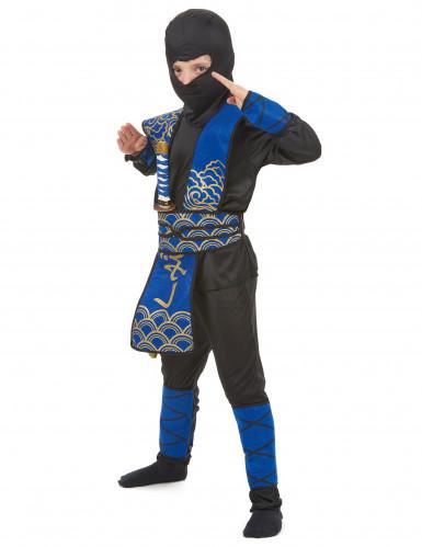 Disfarce ninja azul rapaz-1