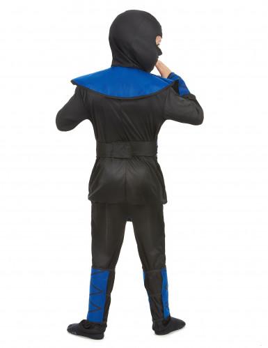 Disfarce ninja azul rapaz-2