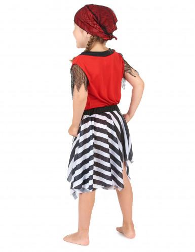 Disfarce de pirata vermelha para menina-2