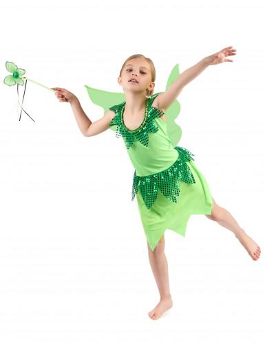 Disfarce fada verde para menina