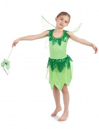 Disfarce fada verde para menina-1
