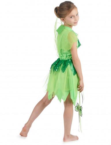 Disfarce fada verde para menina-2