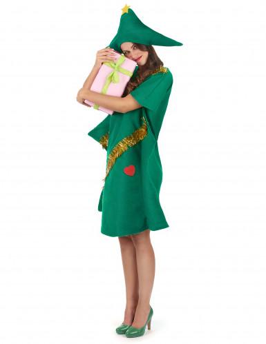 Disfarce de árvore de Natal engraçado mulher -1