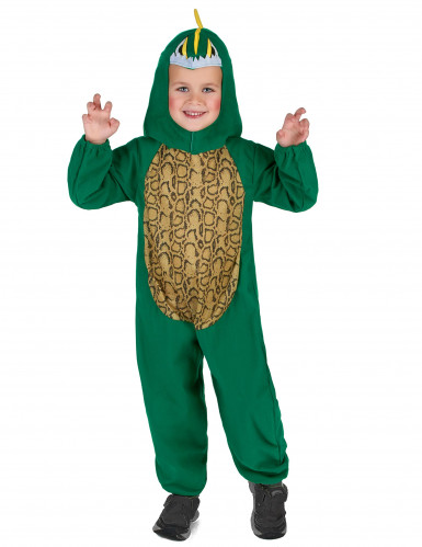 Disfarce dinossauro verde e amarelo criança-1