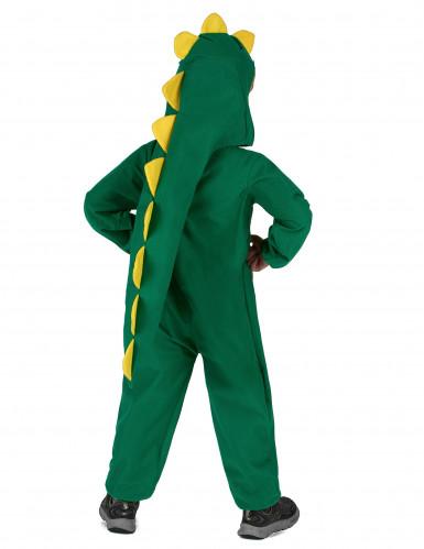 Disfarce dinossauro verde e amarelo criança-2