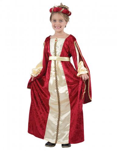 Disfarce de rainha medieval para rapariga