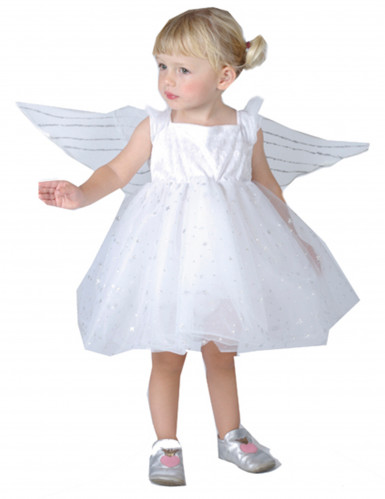 Disfarce de princesa-anjo para menina