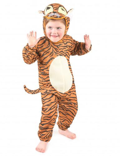 Disfarce tigre com cauda criança