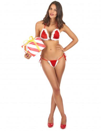 Biquíni de Natal sexy para mulher