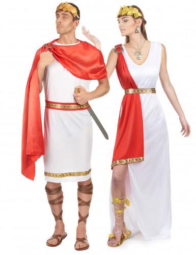 Disfarce casal de romanos